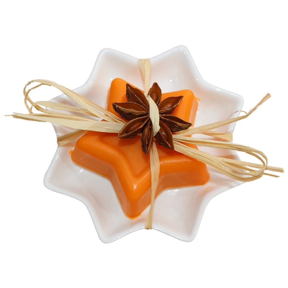 Orangen-Zimt-Stern mit Sternschale
