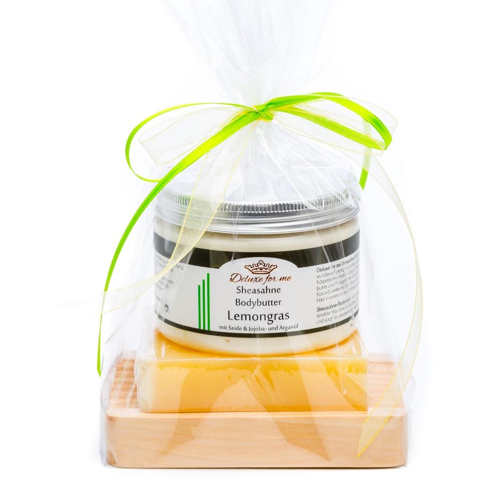 Geschenkeset Lemon 3-tlg. (Bodybutter / Seife / Holz)