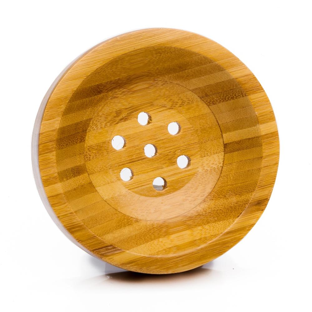 Bambus Seifenschale rund
