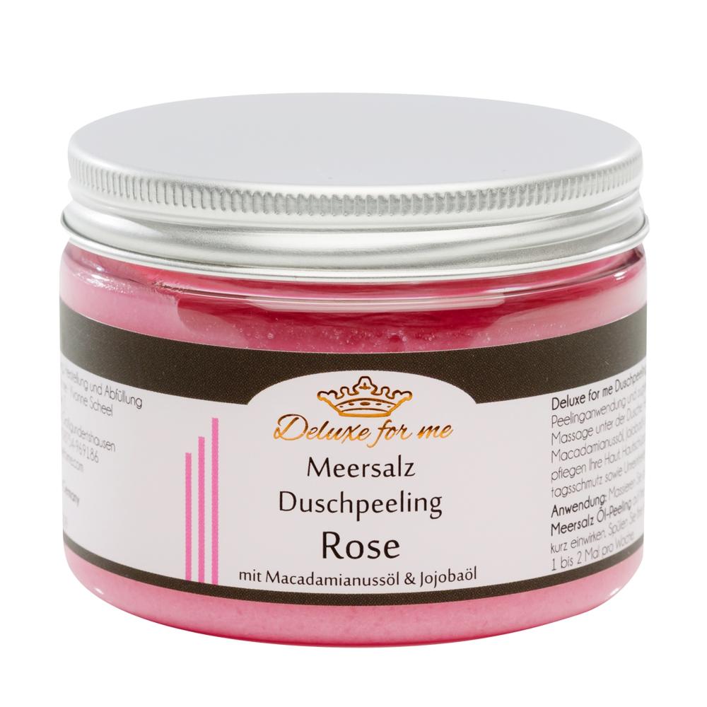 Meersalz Duschpeeling Rose