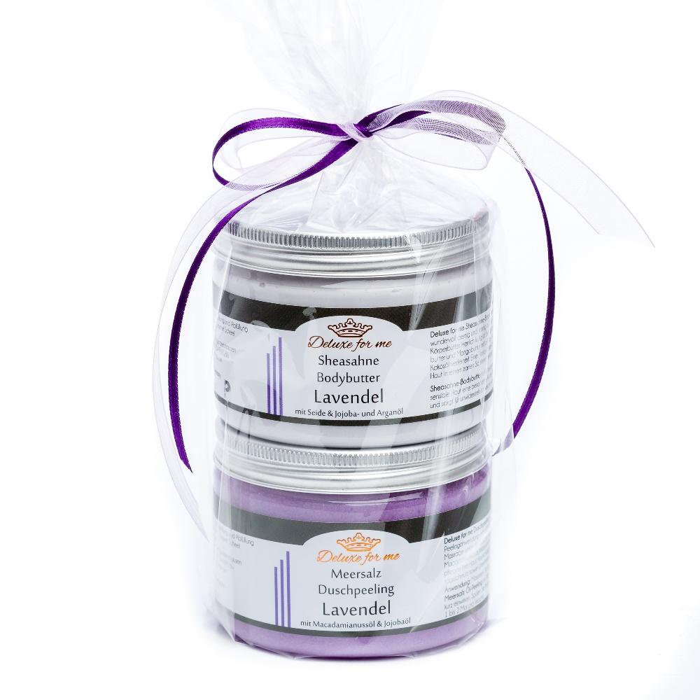 Geschenkeset Lavendel (Bodybutter / Meersalz)