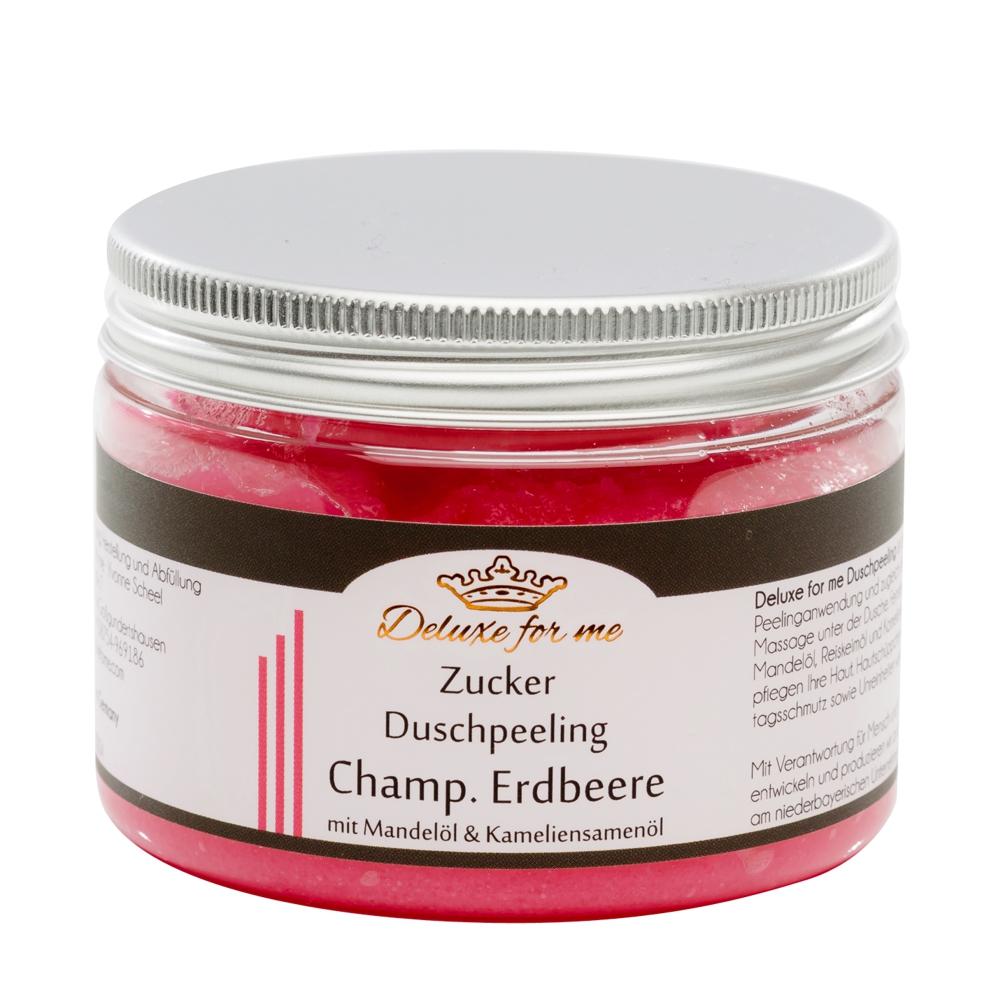 Zucker Duschpeeling Champagner Erdbeere