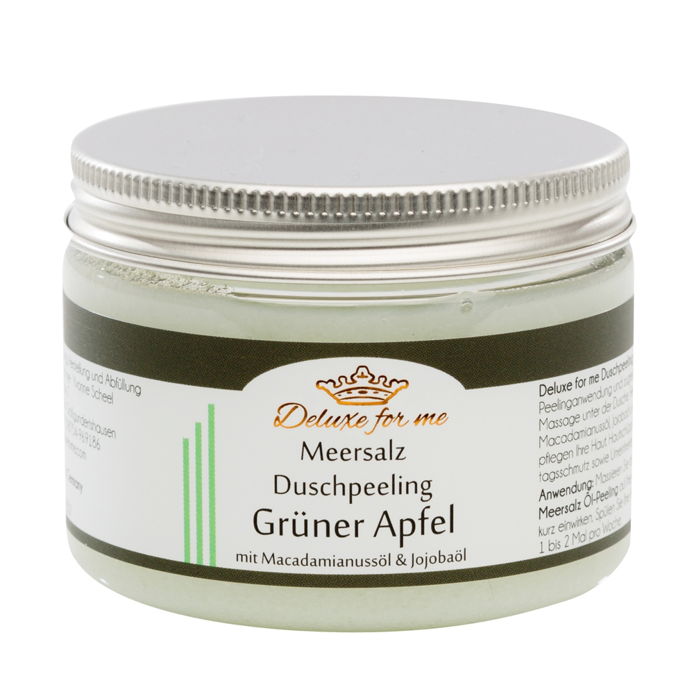 Meersalz Duschpeeling Grüner Apfel