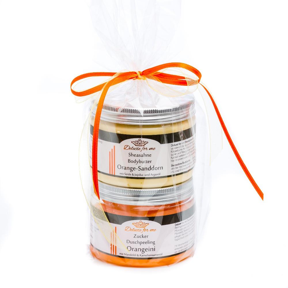 Geschenkeset Orange (Bodybutter / Zucker)