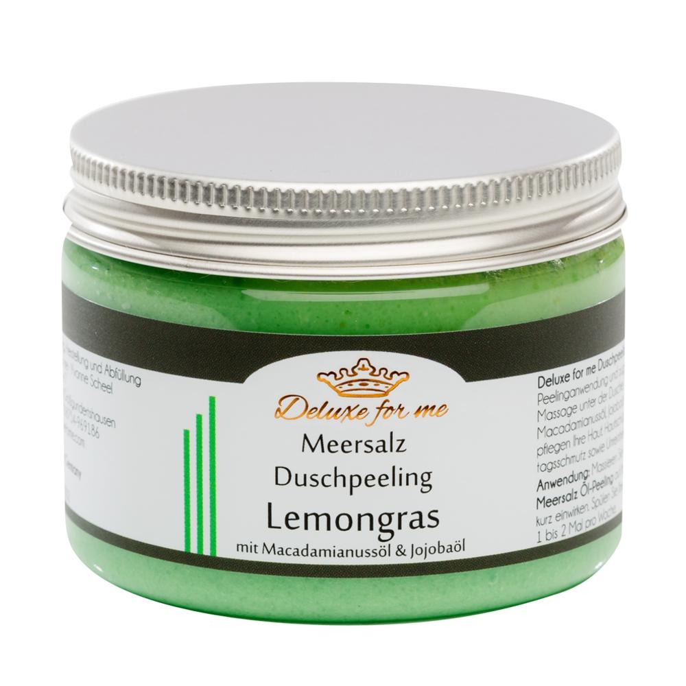 Meersalz Duschpeeling Lemongras