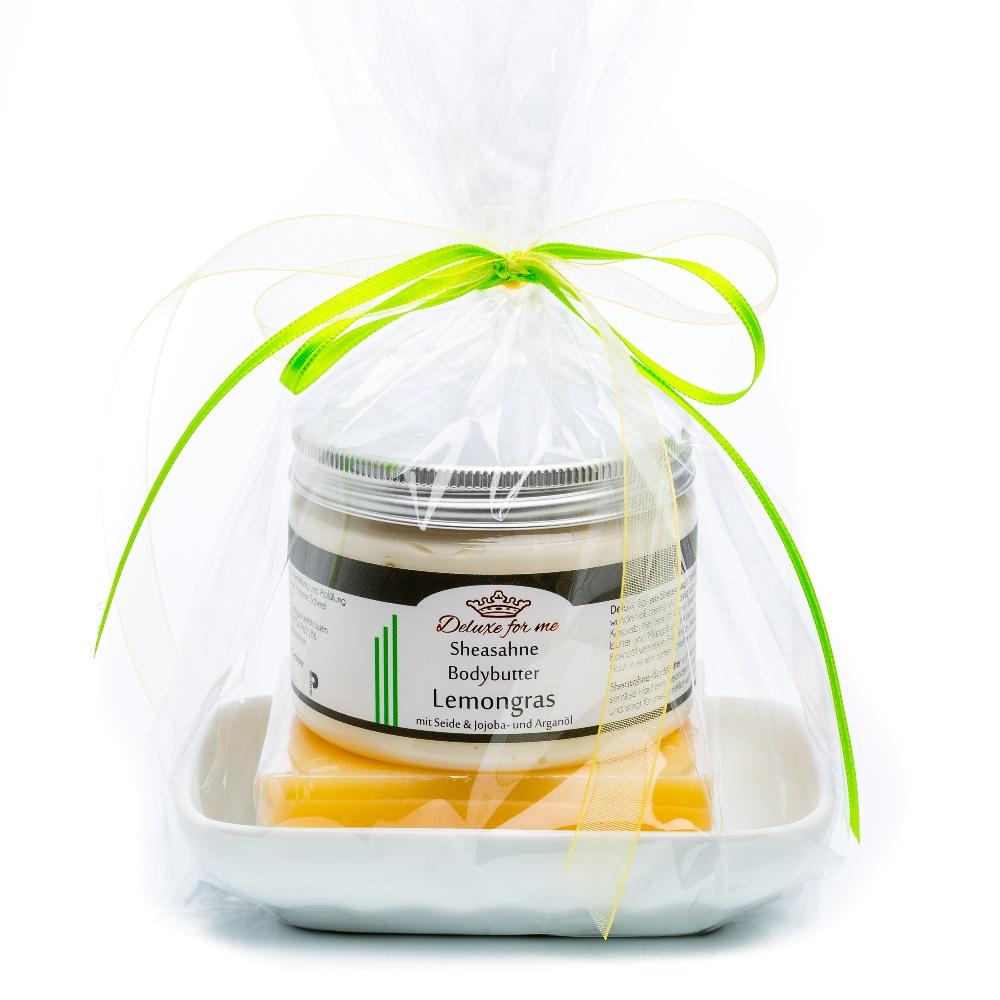 Geschenkeset Lemon 3-tlg. (Bodybutter / Seife / Keramik)