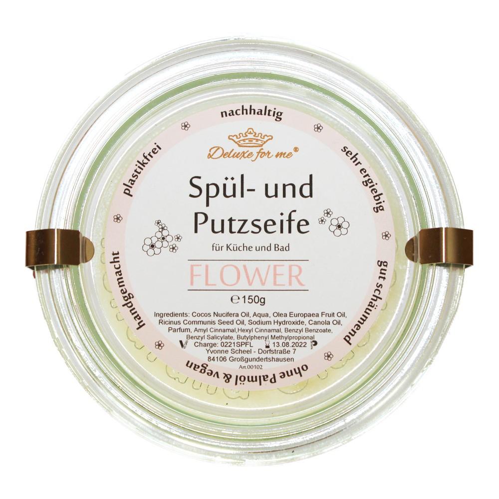 Spül-/ Putzseife Flower im Weck-Glas